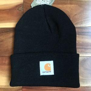 Carhartt Ribbed Black Beanie HAT New!!!